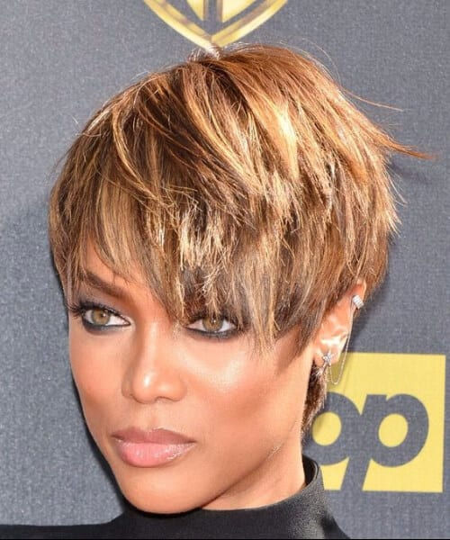 tyra banks updos for short hair