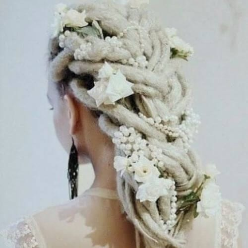 40 captivating wedding updos my new hairstyles wedding updo dreads bride junglespirit Choice Image