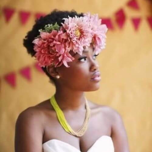 Wedding Updos Flower Crown