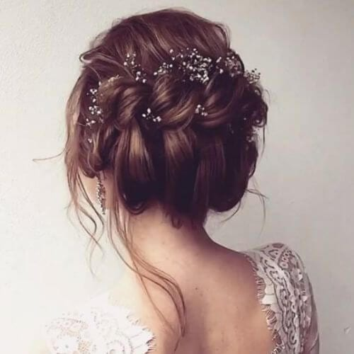 40 captivating wedding updos my new hairstyles wedding updos messy double twisted junglespirit Choice Image
