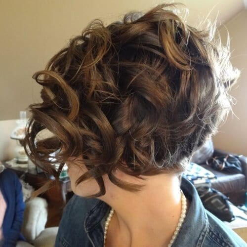 Bridal Stacked Bob Hairstyles