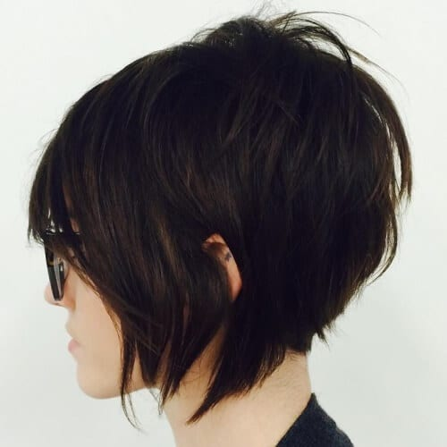 Choppy Stacked Bob Haircuts