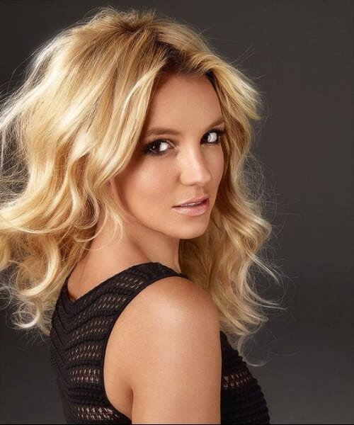 britney spears blonde hair