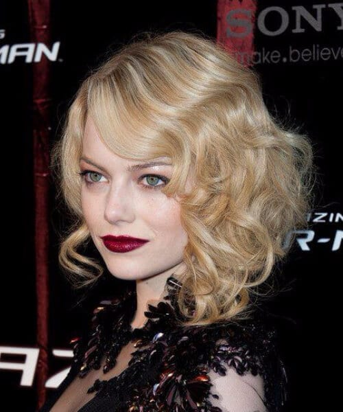 emma stone blonde goth short hairstyles