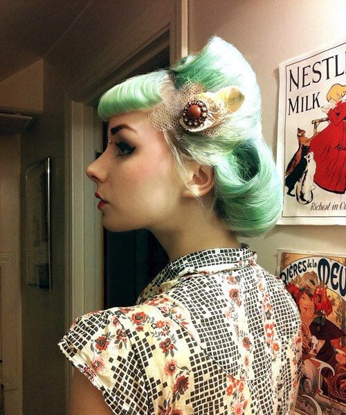 headpiece pin up hairstyles