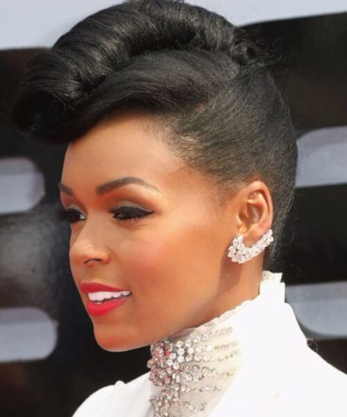 janelle monae pin up hairstyles