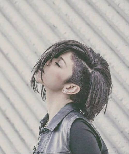 side shave short hairstyles