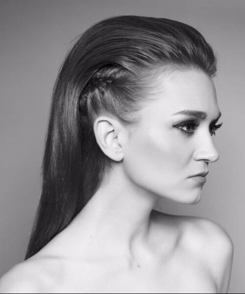 slicked back faux hawk long hairstyles