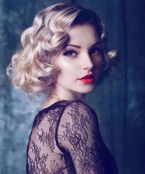 vintage curls short hairstyles