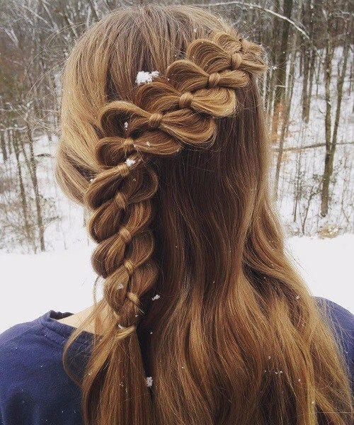 Four-Strand Braid With A Ribbon little girl hairstyles