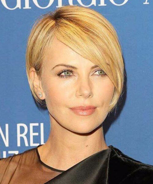 charlize theron long pixie cut