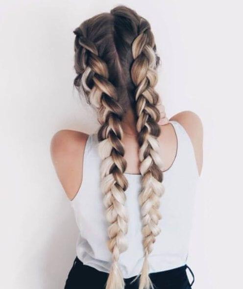 45 impressive french braid hairstyles my new hairstyles coffee and cream french braid hairstyles ccuart Gallery
