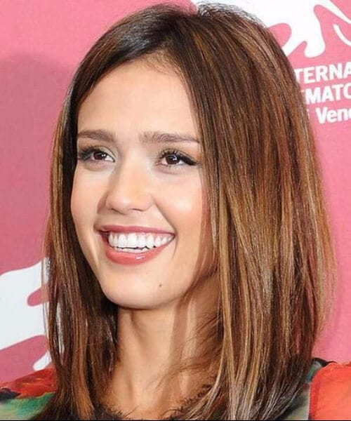 jessica alba shoulder length bob