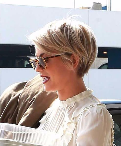 kaley cuoco long pixie cut