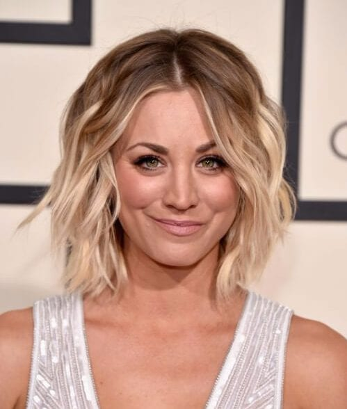 kaley cuoco shoulder length bob