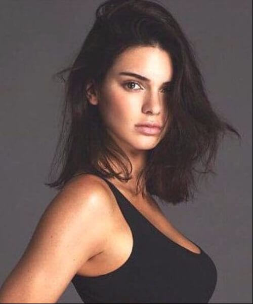 kendell jenner shoulder length bob