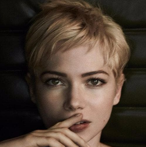 michelle williams long pixie cutv