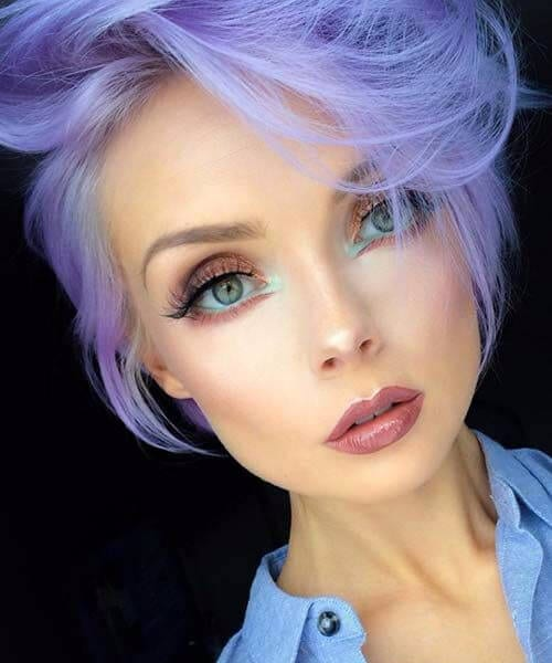 purple pixie hairstyles for thin hair