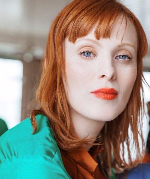short bangs sweet orange hairstyles for thin hair