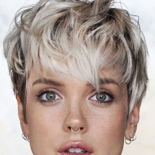 trendy long pixie cut