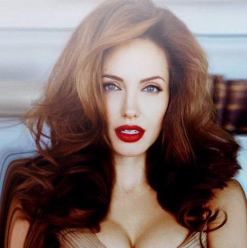 angelina jolie balayage hair color