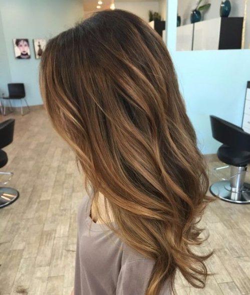 ash brown balayage hair color