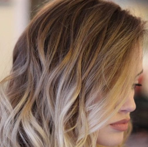 champagne balayage hair color