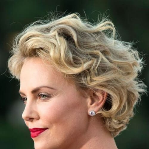 charlize theron layered haircuts