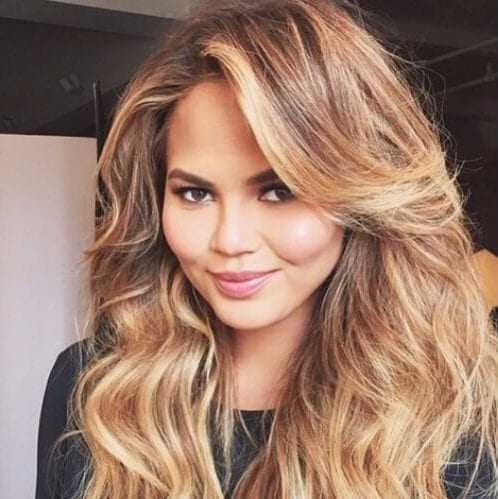 chrissy teigen layered haircuts