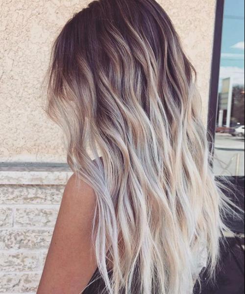 creamy summer balayage hair color