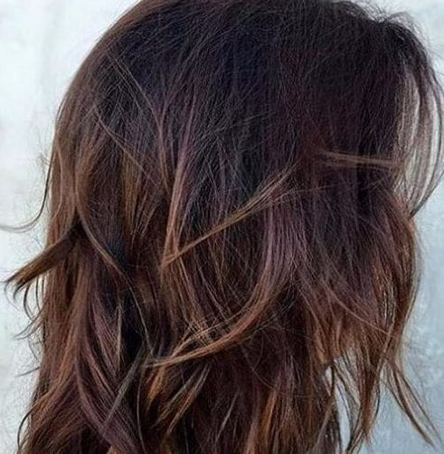dark chestnut layered haircuts