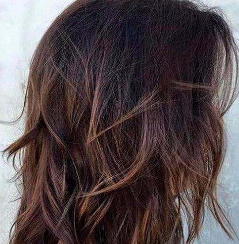 oscuro castaño cortes de pelo en capas