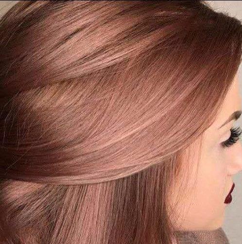 oscuro rosa de oro balayage color de pelo