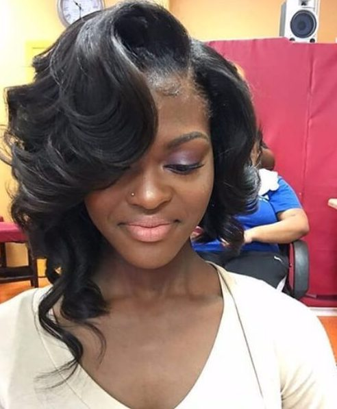 finger waves weave hairstyles