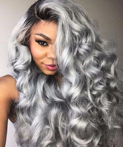 gun mental gray weave hairstyles