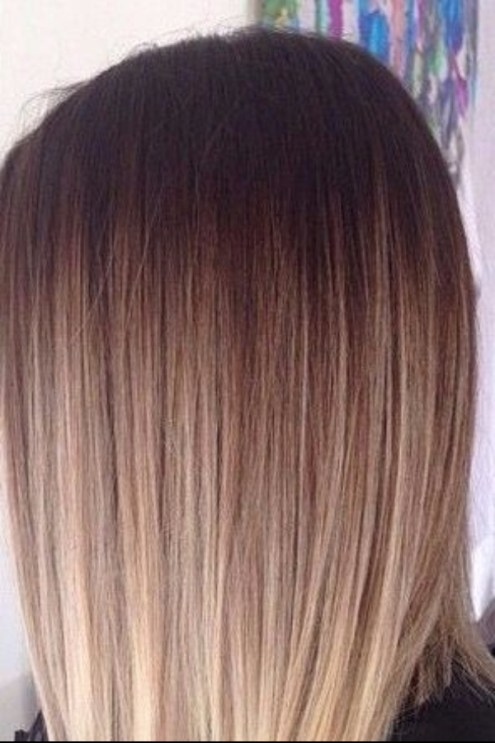 iced mocha con crema de balayage color de pelo