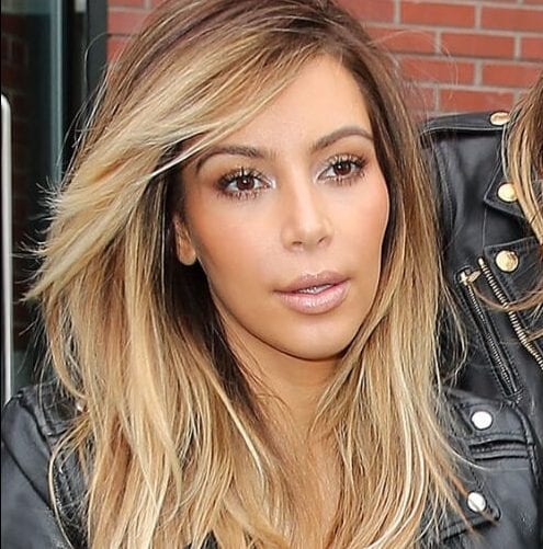 kim kardashian layered haircuts