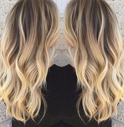 light ginger blonde balayage hair color