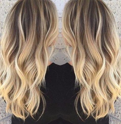 la luz de jengibre rubia balayage color de pelo