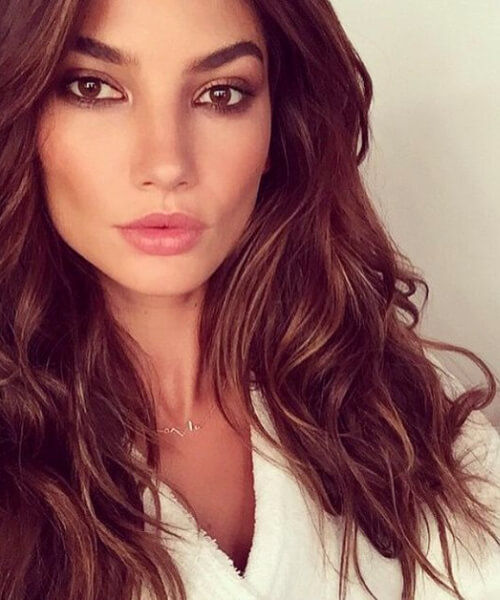 lily aldridge layered haircuts
