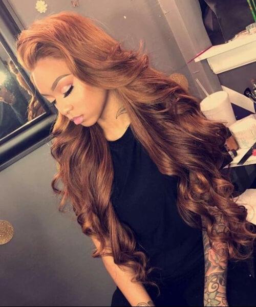 luscious cinnamon weave hairstyles