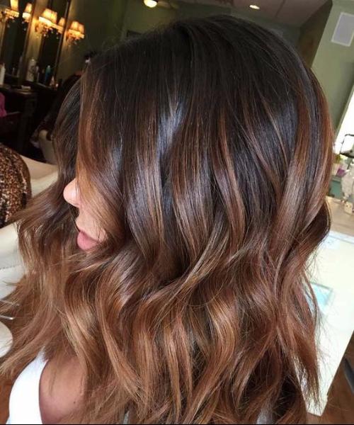 milk cocoa balayage hair color