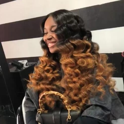 ombre weave hairstyles