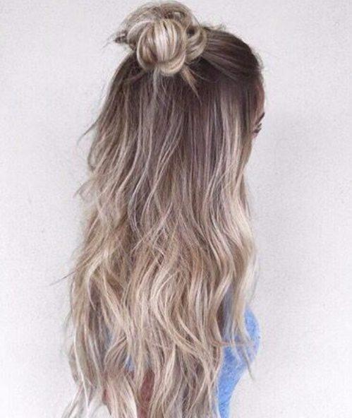 opal platinum textured balayage hair color