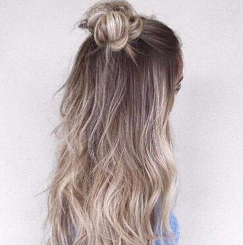 ópalo de platino con textura balayage color de pelo