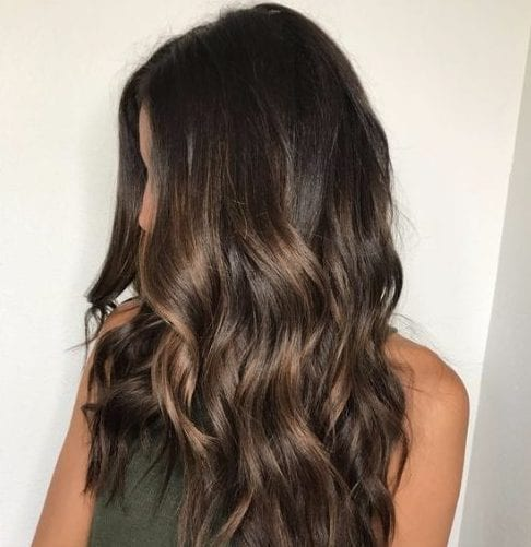 rich brunette caramel balayage hair color