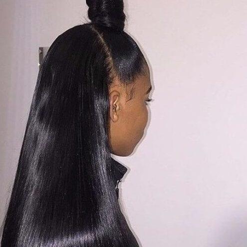 samurai bun weave hairstyles