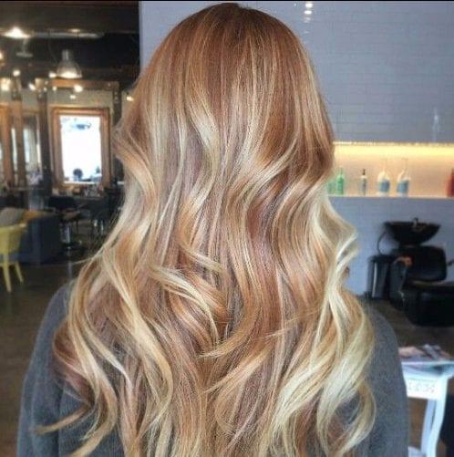 tonos de cobre balayage color de pelo