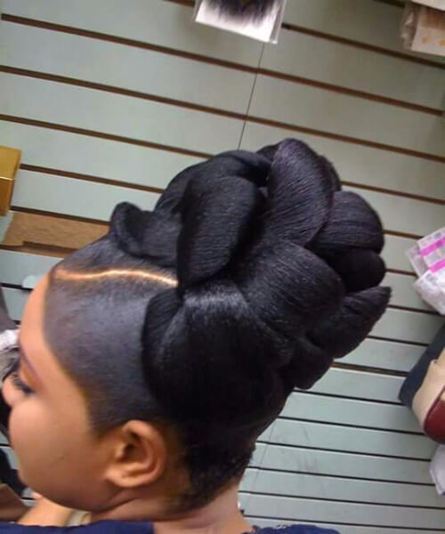 sophisticated bun weave hairstyles