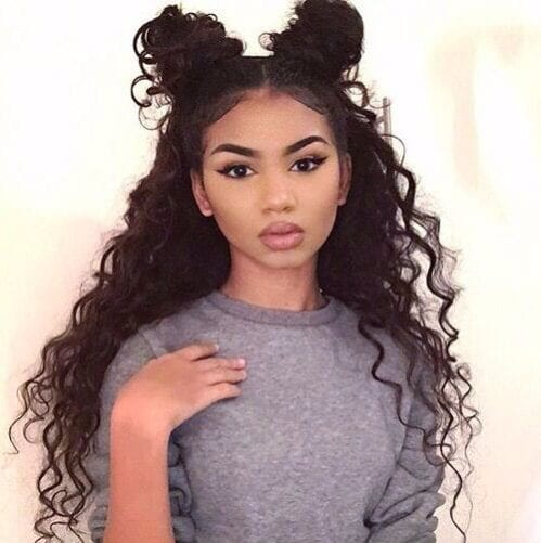 space buns weave hairstyles